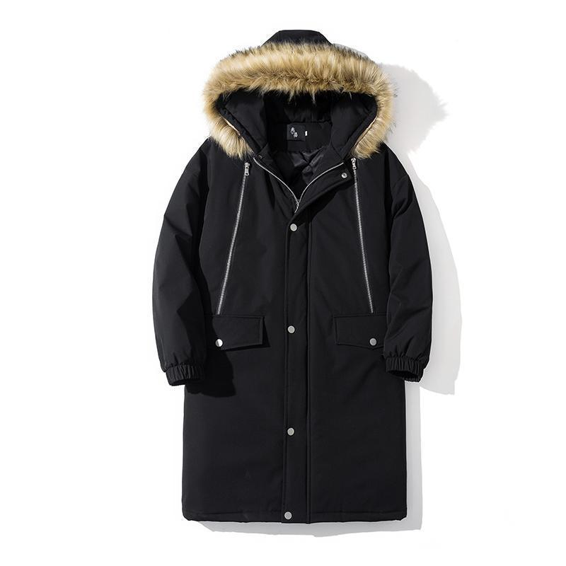 M-5XL Parkas Men Winter Jacket Long Thicken Coat Warm Cotton Jaqueta Masculina Big Fur Hooded Outwear Overcoat Plus Size XXXXXL