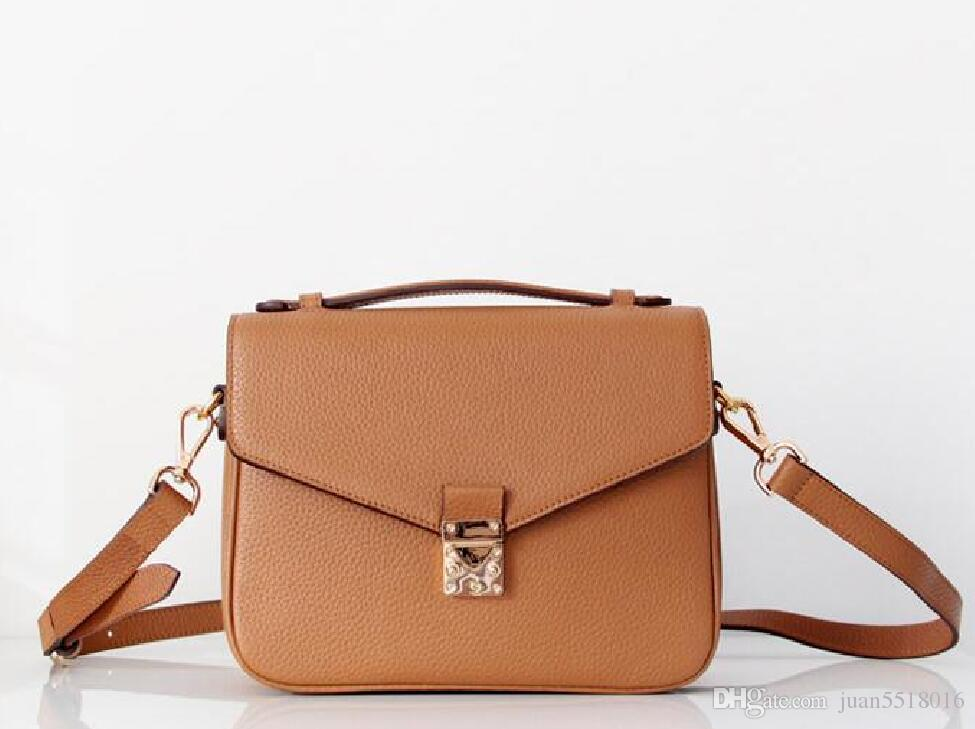 2019 Free shipping high quality women Messenger bag leather women's handbag shoulder bags crossbody bags M40780