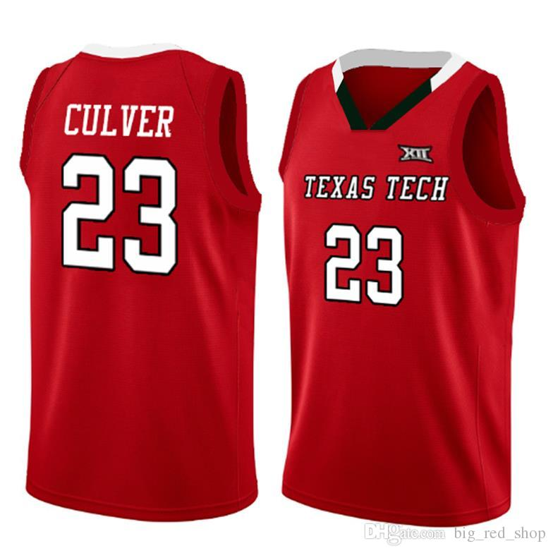 2021 New 23 Jarrett Culver Texas Tech Jersey 2019 Final Four TTU ...