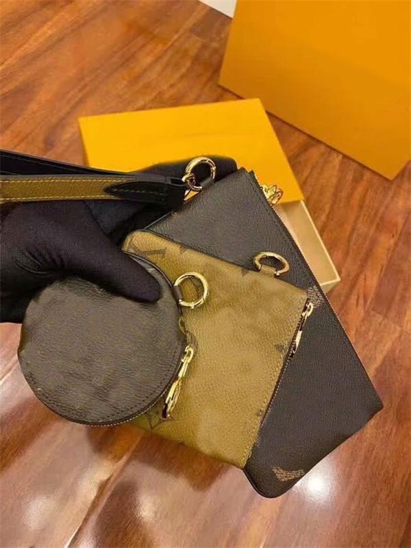 2020 Yeni Kadın Çanta Tasarımcı en kaliteli çanta 3adet Seti Çanta kodu ile ünlü akşam torbasını handbags