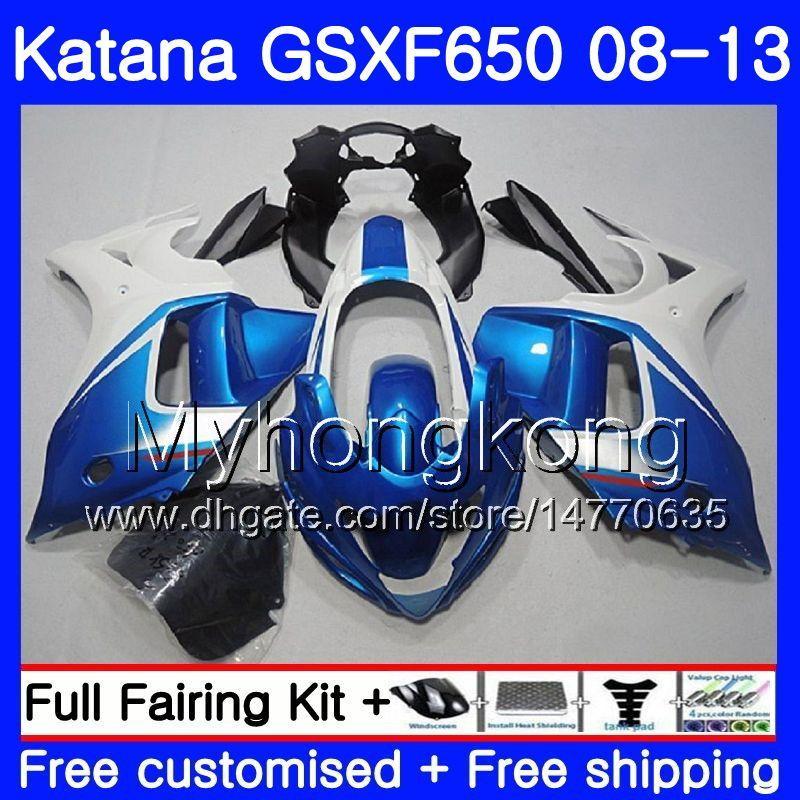 Pearl Blue stock Körper für SUZUKI KATANA GSXF 650 GSX 650F GSX650F 08 09 10 11 12 13 303HM.4 GSXF650 2008 2010 2010 2012 2013