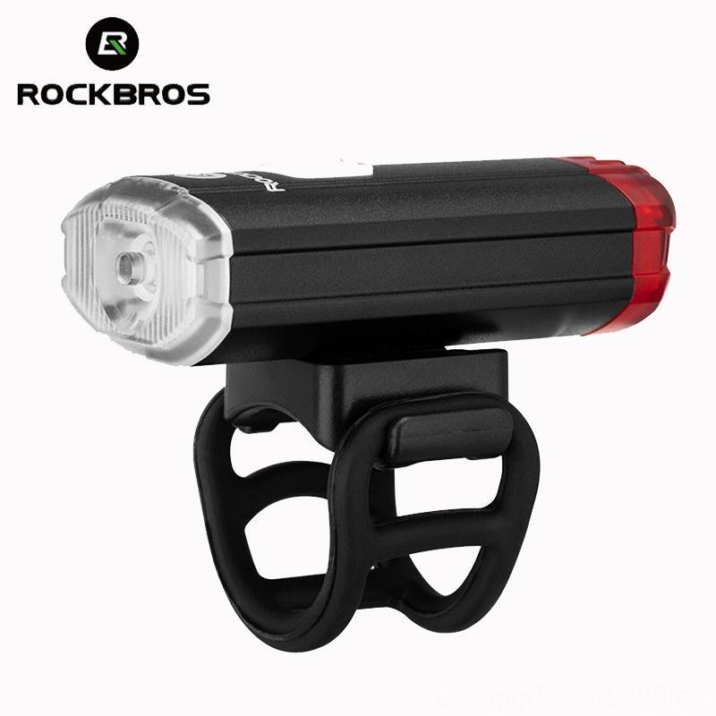 ROCKBROS New 100 Lumen Capacete de bicicleta USB lanterna recarregável acessórios de bicicletas Ciclismo bicicleta Frente Luz traseira Guiador Capacete Top Two
