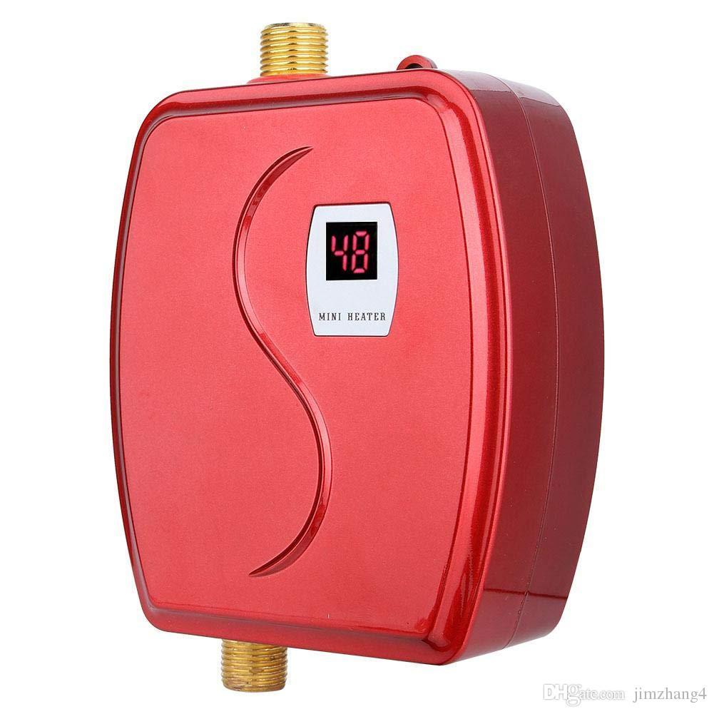 XY-FG-GB, 3800W calentador de agua instantáneo Baño Cocina eléctrica caliente del calentador de agua Toque LCD Pantalla de temperatura del grifo de la ducha Tankles