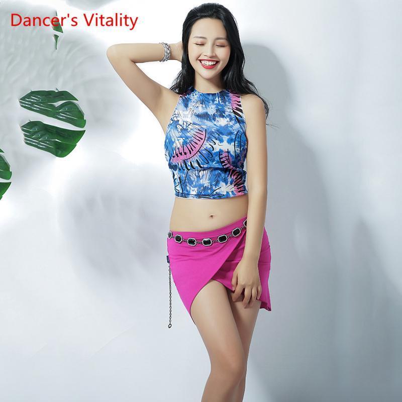 Womne Belly Dance Robe Mme Sexy manches de Split Sac Hip Jupe Danse Performance Top / Jupe Livraison gratuite