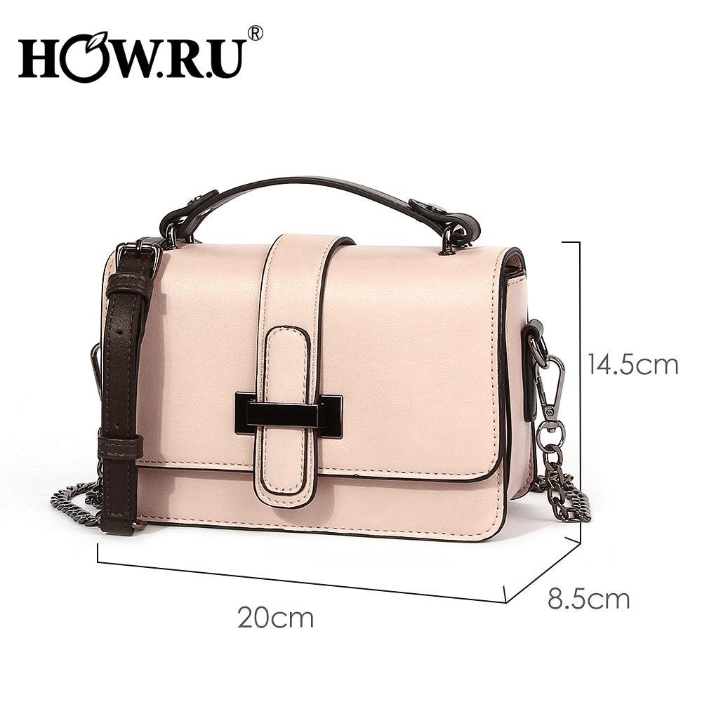 0c4236449e7059 Howru Brand Pu Leather Women Bags Designer 2019 Small Chain Side Bag  Fashion Woman Crossbody Shoulder Bag Ladies Luxury Handbags Y19052801