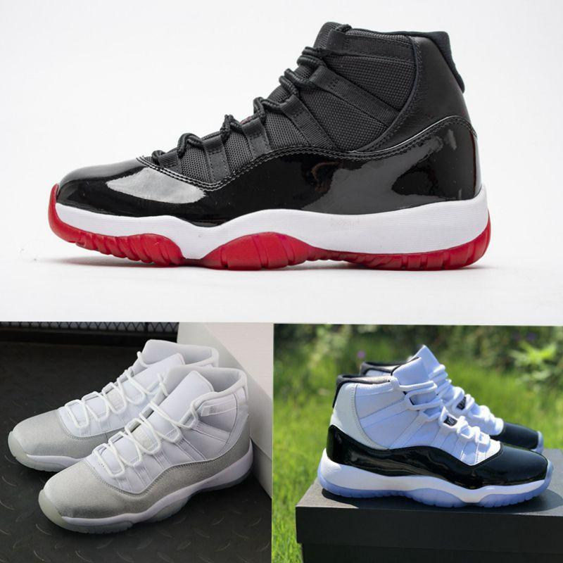 FASHION trainers Real Carbon Fiber 11s XI concord Bred black red WMNS Metallic Silver Men Athletic Sneakers Mens shoes Basketball Shoes