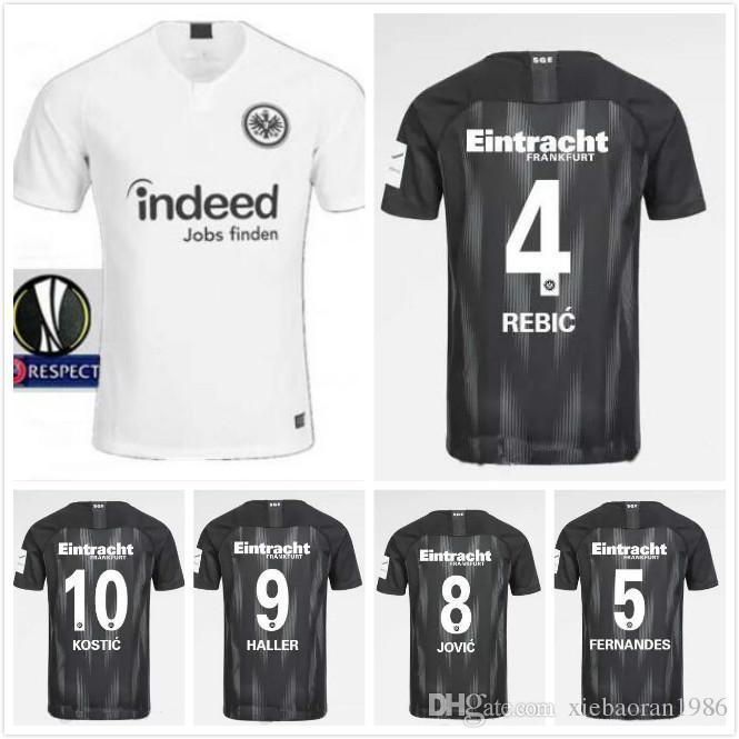 Acquista Op Quality 2018 2019 Eintracht Frankfurt Home Away Maglia Da Calcio 18 19 Frankfurt Europa League HALLER JOVIC REBIC Maglie Di Calcio A 18,53 ...