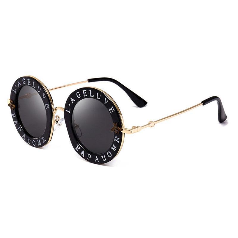 Wholesale-New arrival Round Sunglasses Brand for women Brand Designer good quality Oval sun glasses travel Fashion eyeglasses for women