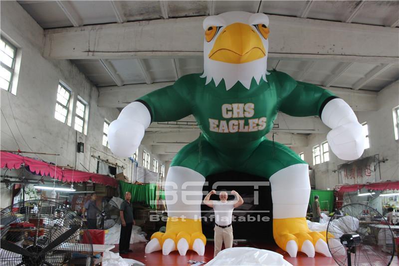 Alta qualidade preço de fábrica logotipo personalizado evento de futebol americano gigante desenhos animados infláveis mais barato águia capacete entrada do túnel