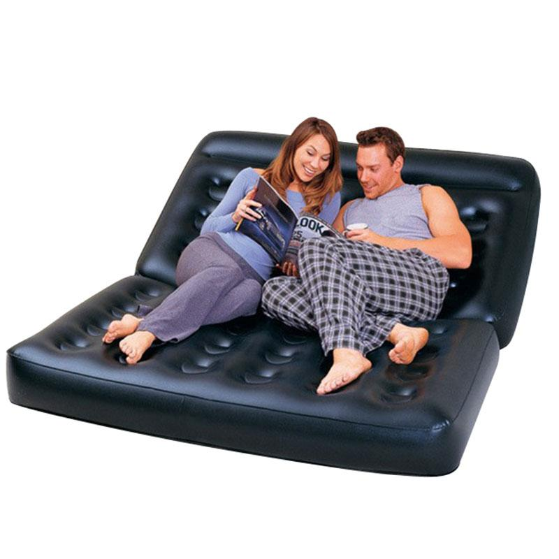 Camping PVC Outdoor Bed Apartment Folding Naive Home Sofa Black Furniture Modern Inflatable Air Sofa Beds Living Room Sofa