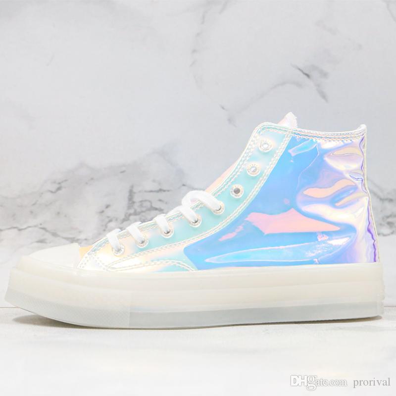 All Star 1970 scarpe laser Colorful Jelly scarpe Chuck 70 Trasparente sbiadimento Uomini Donne Hight Top Designer Casual Scarpe Sneakers sportive