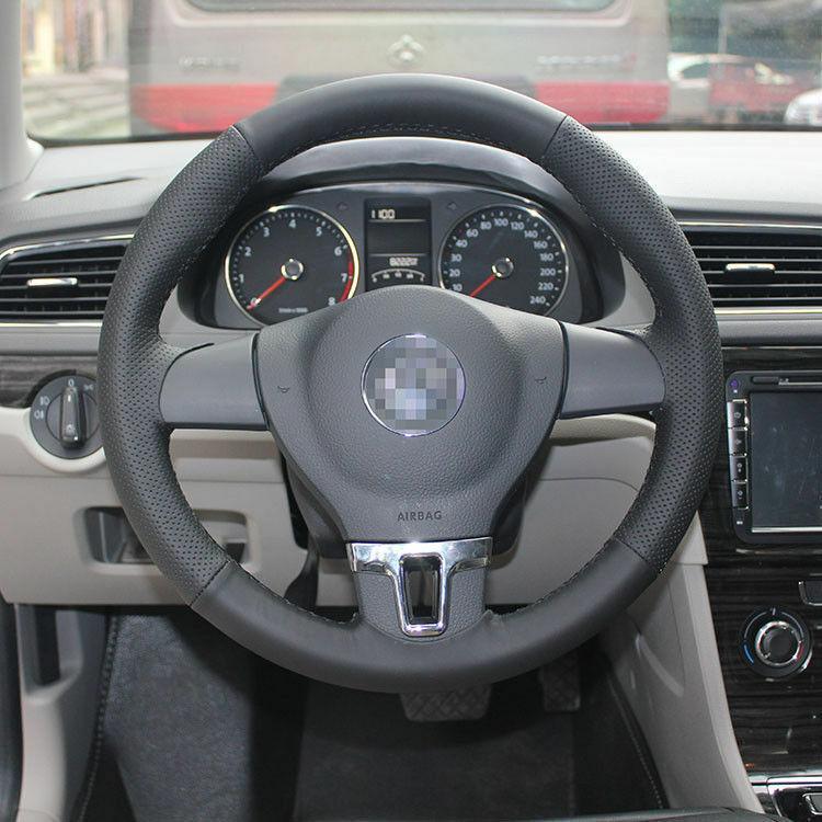 Cucitura a manoCinturino in pelle nera su Wrap Cover per VW Lavida
