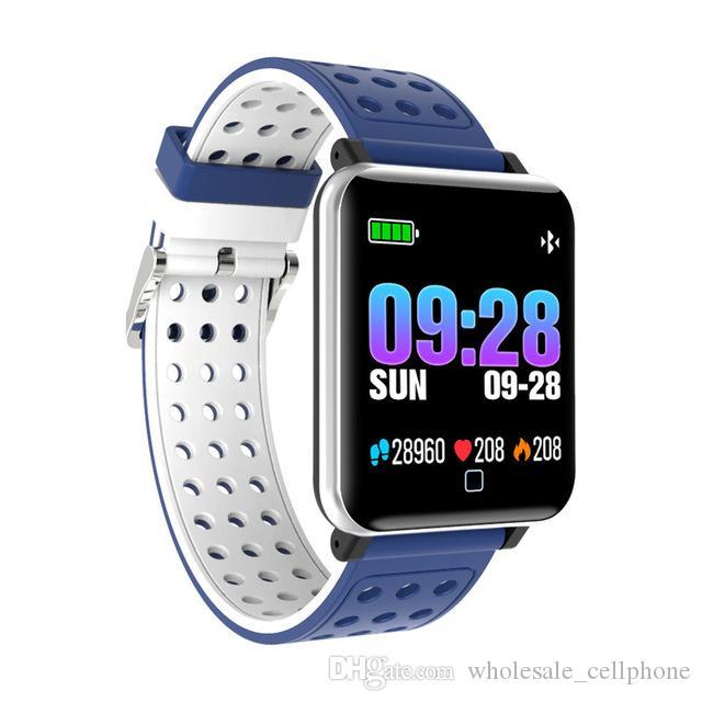 M19 Smart-Armband-Uhr-Fitness Tracker Blut-Sauerstoff-Blutdruck-Puls-Monitor-Smart-Uhren wasserdichte Armbanduhr für iPhone und Android