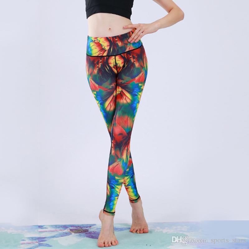 2019 nuevos pantalones de yoga con cintura inferior cónica estirada estirando ligeros leggings de desgaste atlético para la práctica de yoga uso activo
