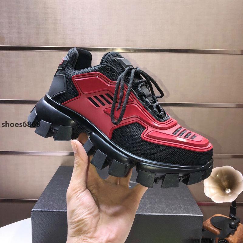 2020 Nouveau 1arrival Hommes S Cloudbust de Thunder Tricoté Sneakers de luxe surdimensionné Chaussures de sport légère Semelle en caoutchouc 3d Chaussures de sport de grande taille Trois dames