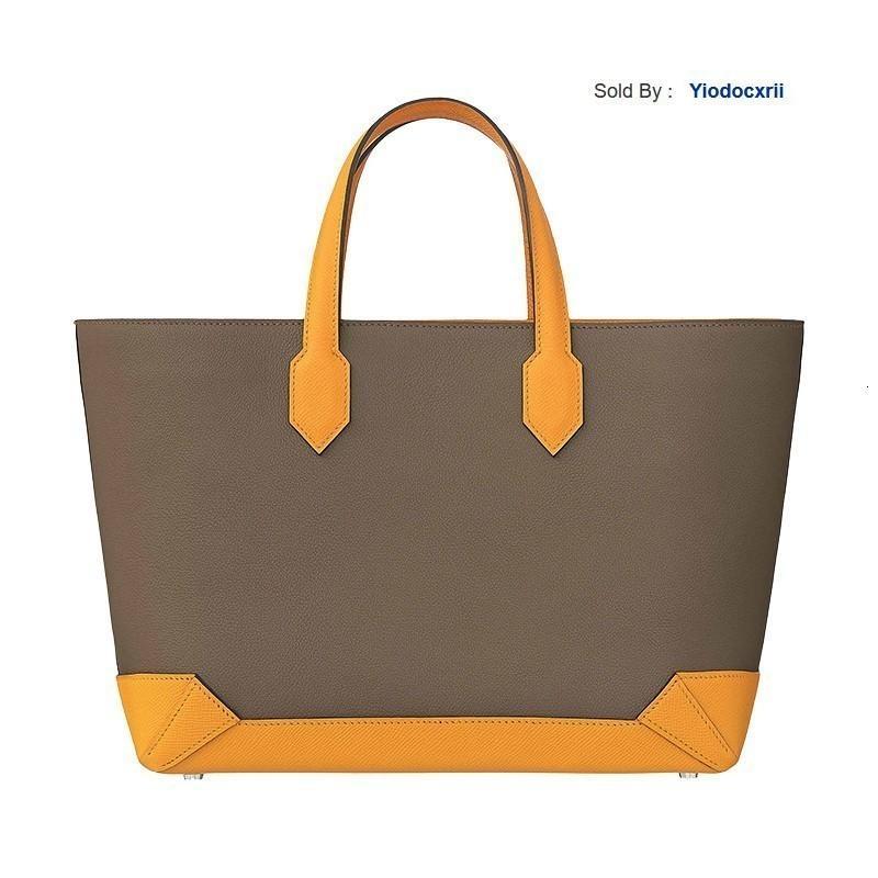 yiodocxrii 6MIH Maxibox Cabas 30 Shopping Bag Tote Oregano/gold Yellow H071322ckaa-ba11 Totes Handbags Shoulder Bags Backpacks Wallets Purse