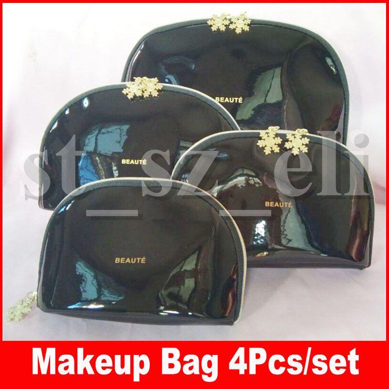 Famous Makeup tool Cosmetic Bags Organizer Makeup Bag Designer Travel Pouch Make Up Bag Cluch Purses Organizador Toiletry Bag 4pcs/Set