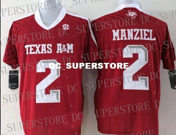 Cheap Texas A&M Aggies Johnny Manziel #2 Football Jersey XS-3XL