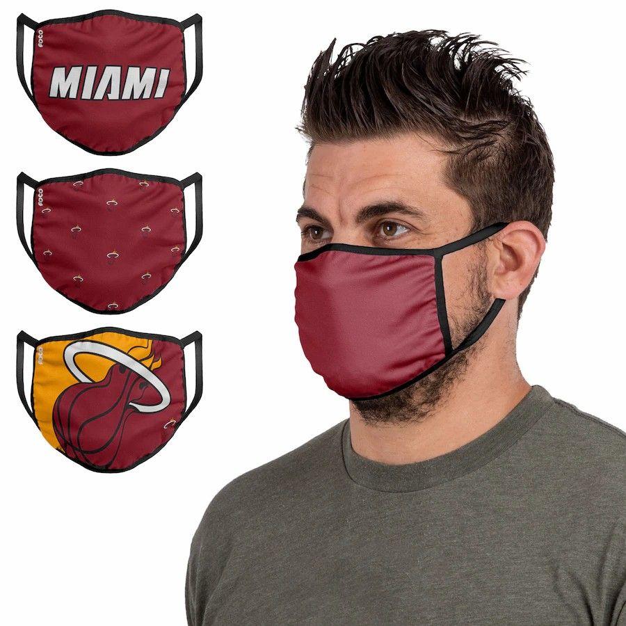 Milwaukee Miami Philadelphia Boston Toronto Philadelphia MiSan Antonio Cloth Face Covering 3-Pack Free DHL Spur Celtic 76ers Heat Bucks