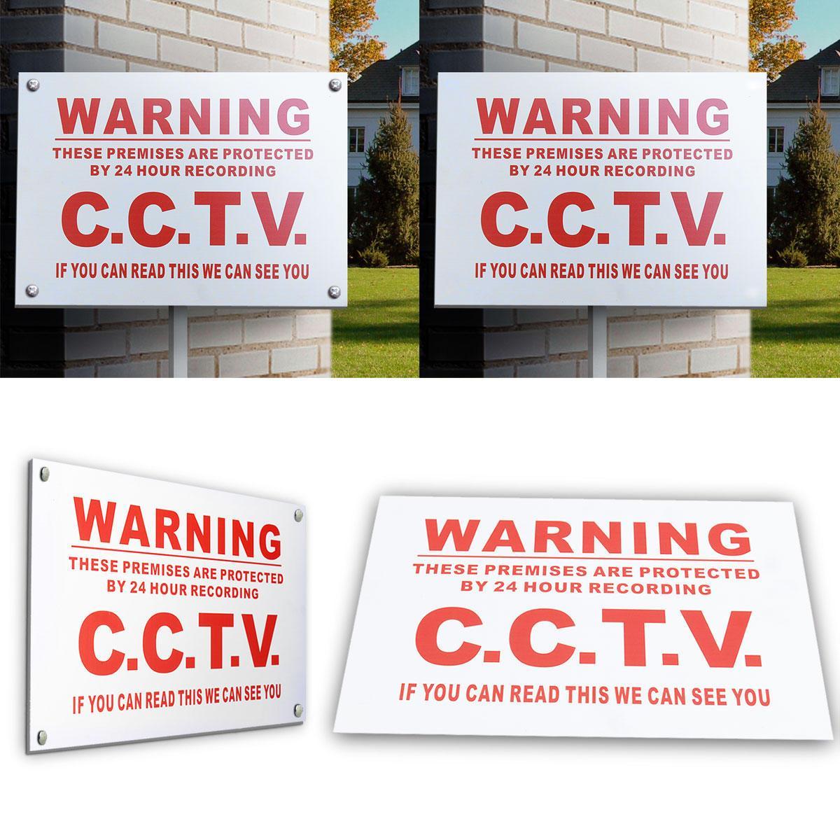 A4 señal de peligro de 24 horas circuito cerrado de televisión podemos ver sticker Usted metal Seguridad Seguridad - B