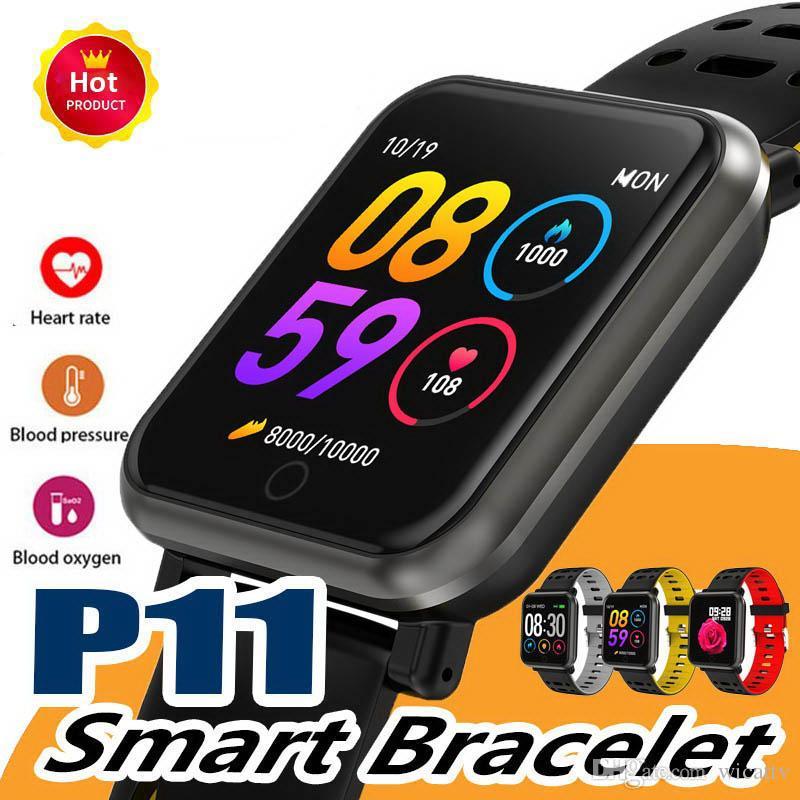 elma izle DZ09 için Toptan P11 akıllı saat spor izci reloj inteligente spor Hart Oranı PK N88 SmartWatch
