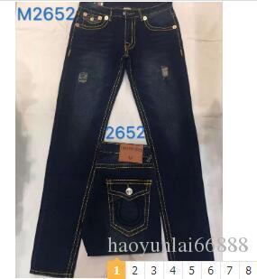 Tamanho American Style Mens Verdadeiros Jeans Cotton Denim de alta qualidade 30 32 34 36 38 40 frete grátis tr2873 C191