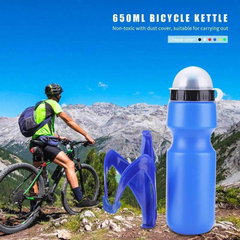 7 Renk 650ml Taşınabilir Açık Bisiklet Bisiklet Bisiklet Spor İçeceği Sürahi DIY Su Tutucu Kupa Bisiklet Şişe Şişe
