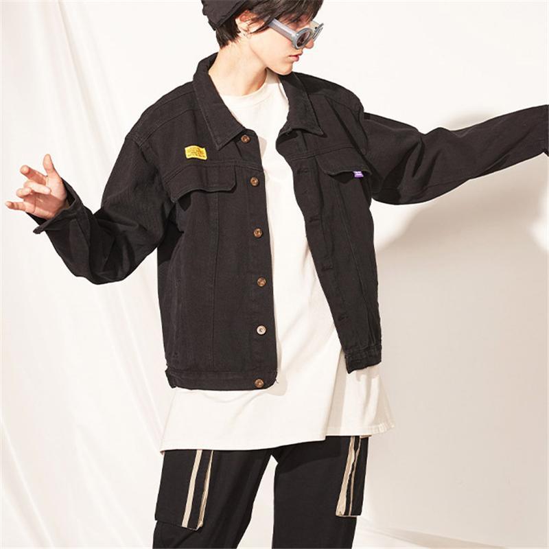 Tasarımcı Marka Streetstyle Hip Hop Womens Mektupları Baskı Denim Ceket Günlük Moda Artı Gevşek Ceket Üst Kalite Dış Giyim B101748V
