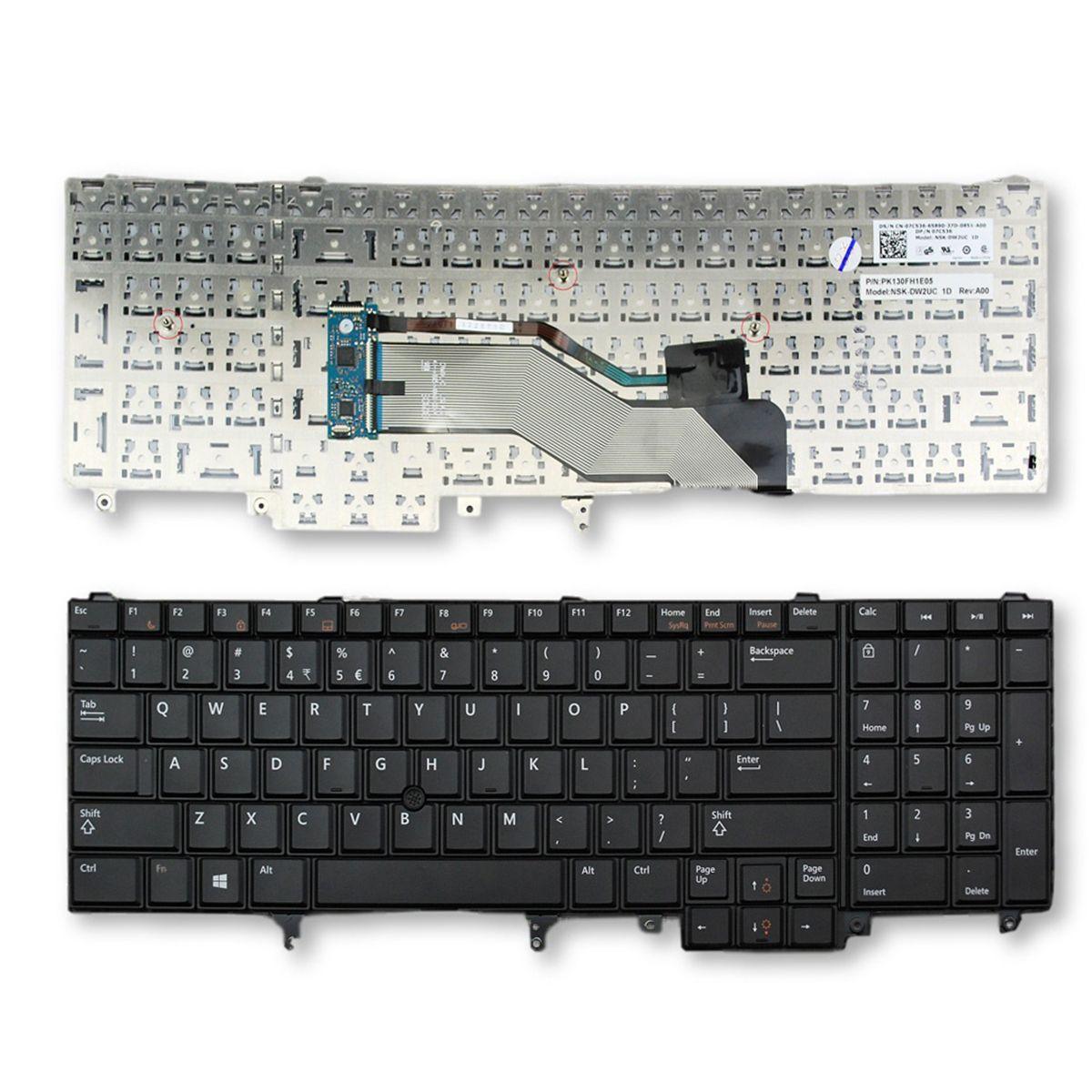 NOVO Inglês Laptop teclado para teclado Dell Latitude E6520 E6530 E6540 E5520 E5520M E5530 US Sem backlit US Keyboard Laptop Repair