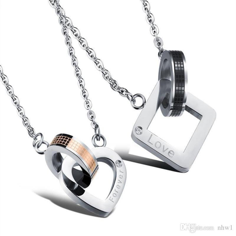 Fashion Letters K /& Q Couple Pendant Love Stainless Steel Couple Necklace Gifts