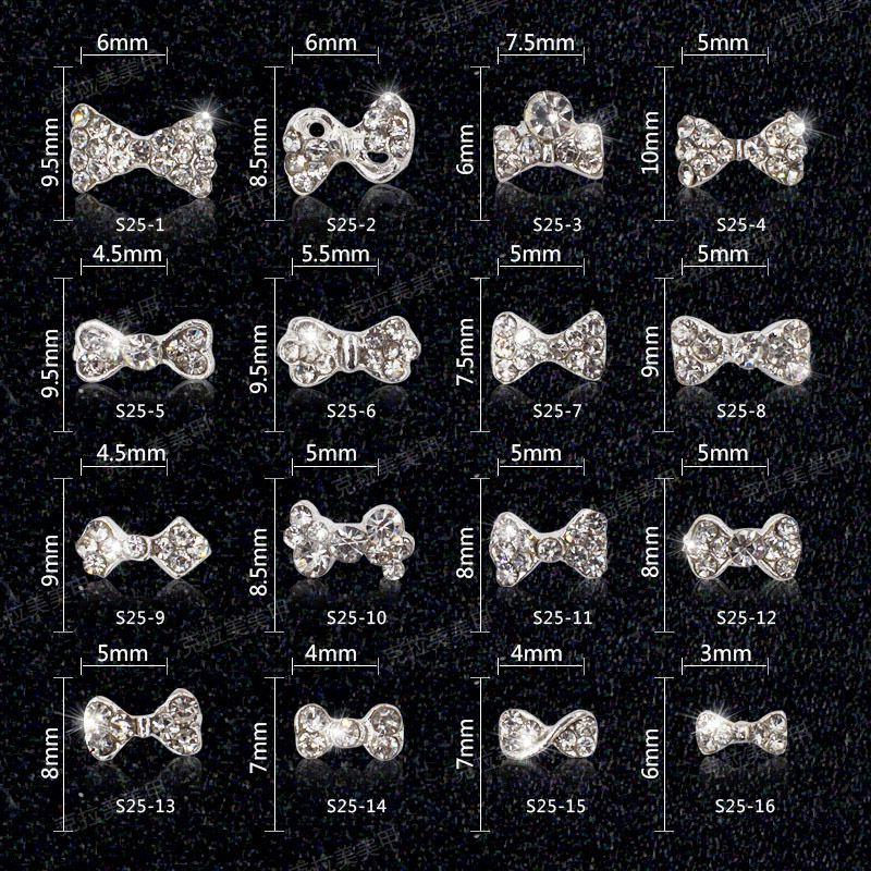 Chiodo del metallo 3d Decorazioni Decorazioni zircone diamante Nail art zircone strass gioielli in lega zircone nappa pendente accesso unghie