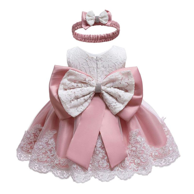 Vestido infantil 2019 Summer Baby Princess Vestidos de fiesta para bebés Bautizo Vestido de 1 año Vestido de cumpleaños Ropa de bebé recién nacido MX190719