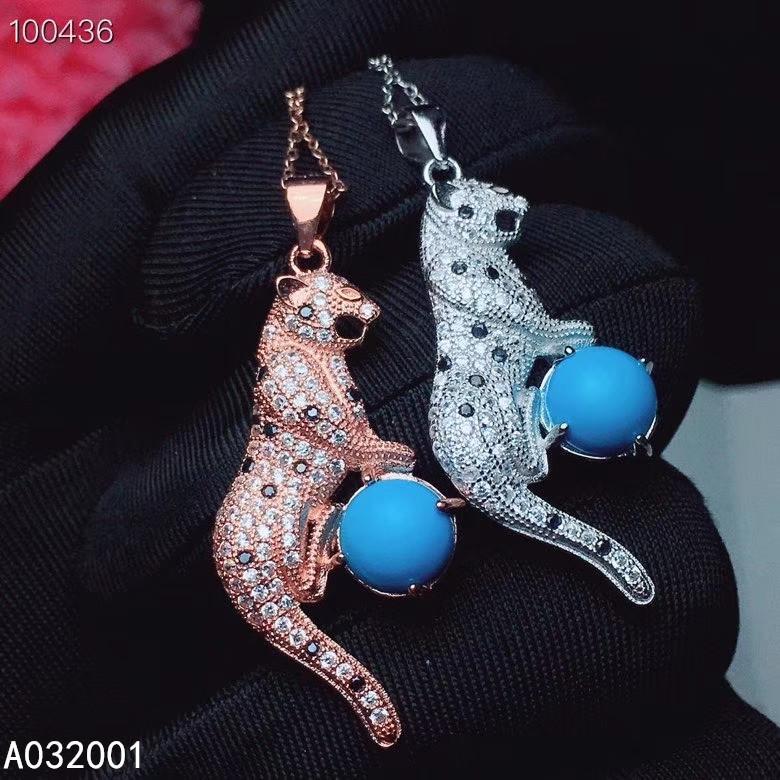 KJJEAXCMY ince takı doğal mavi turkuaz 925 gümüş kadın kolye kolye zinciri destek testini değerli taş