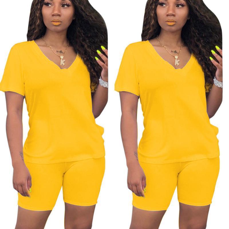 Два куска платье Sondr женщин наборы летних трексец с коротким рукавом верхние шорты костюм 2 комплект спортивной одежды ночной клуб партии упругость упругость тонких нарядов