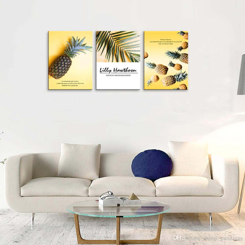 2019 Tropical Fruit Picture Wall Art Decor Pineapple Canvas Prints Painting  For Kitchen Dining Room Home Decoration From Amesi_paintings, $26.74 | ...