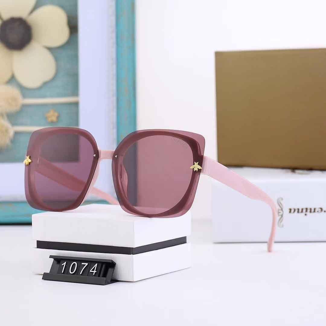 Homme nouveau créateur de mode et 1074 style simple de vente populaire cadre carré féminin haut de la qualité UV400 lunettes de protection avec la boîte