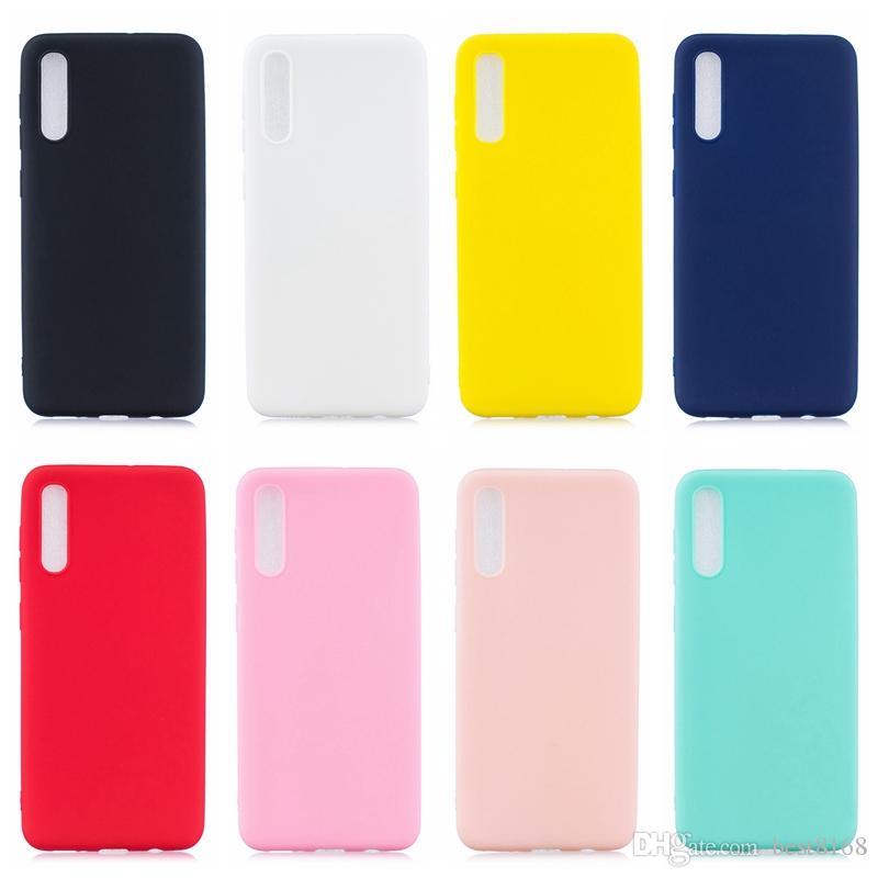 Yumuşak TPU Kılıf Samsung Galaxy A70 Için A50 A40 A30 A20 A10 M30 M20 M10 İnce Mat Ultra Ince Ultra Ince Düz Lüks Telefon Kapak Coque Jel