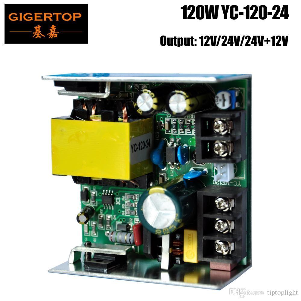 TIPTOP YC-120-24 120W Power Supply 24V saída soquete compactado tamanho para 7x10W / 7X12W RGBW Led Moving Head Light Mini Wash Led
