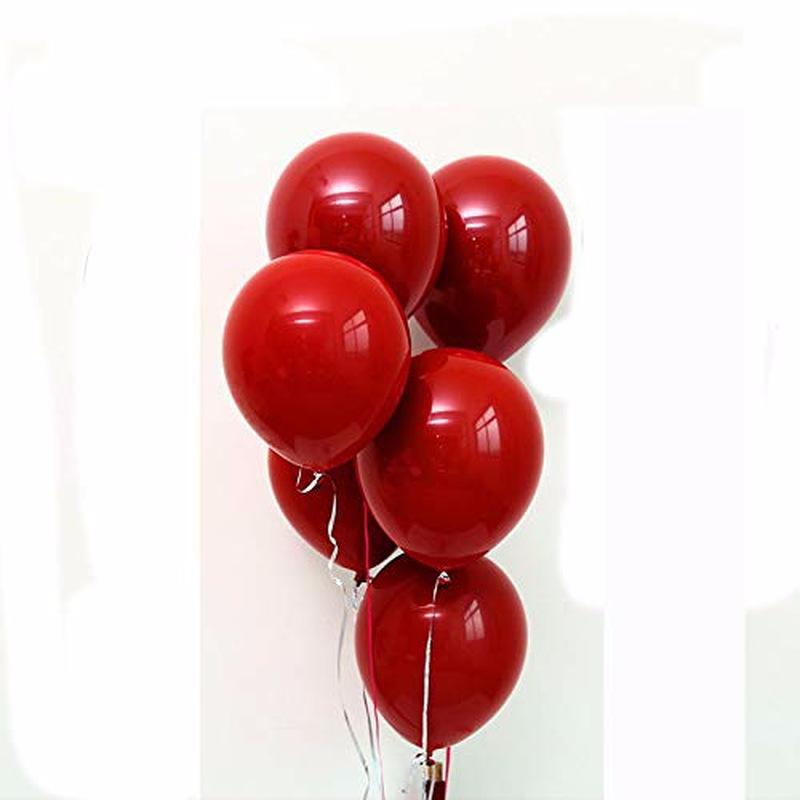 50pcs / sac super Grand Grand Ballon rouge 100pc Mariage Anniversaire Décoration Fantaisie Anniversaire Voir Ballon Multicolor Latex géant