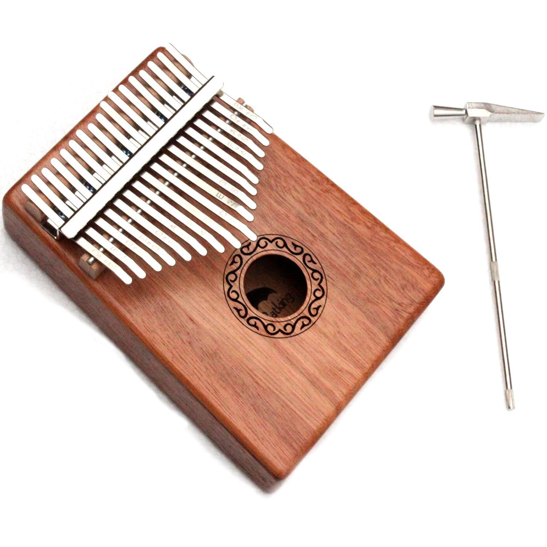 17 teclas de piano Kalimba Pulgar sólido cuerpo de caoba con el aprendizaje de libro Tune Martillo