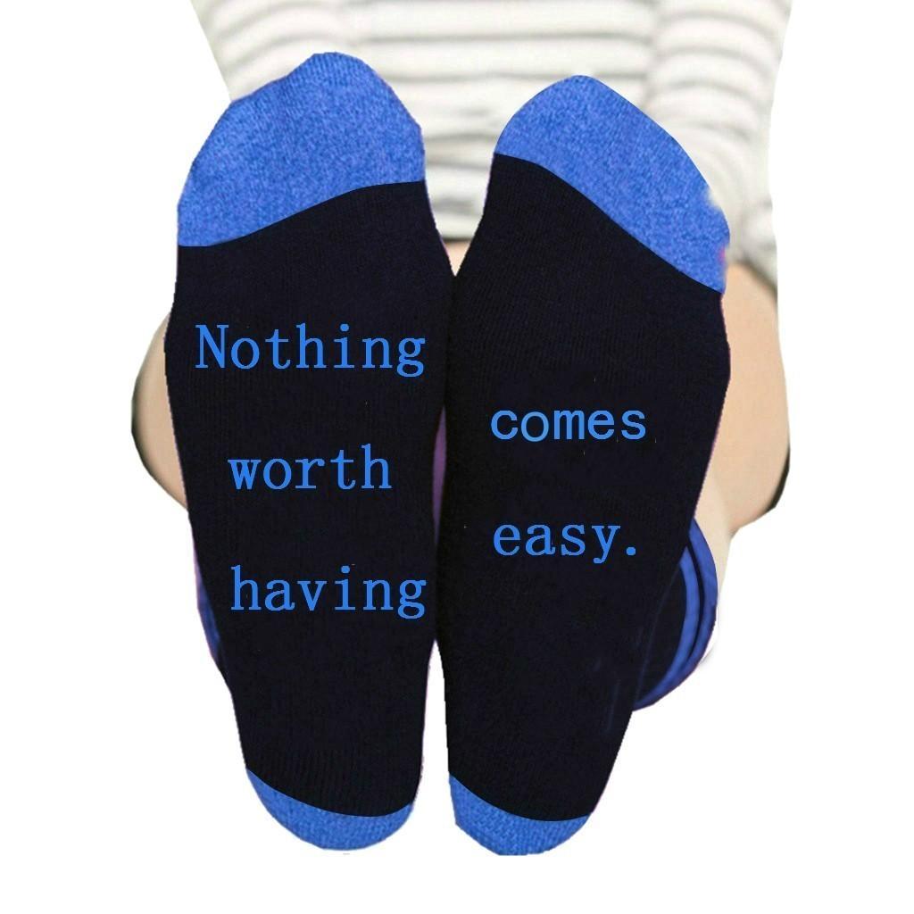 Women Funny Halajuku Letter word printed socks Creative Heels sokken Hip Hop Street Skateboard Basket ball Socks winter socks