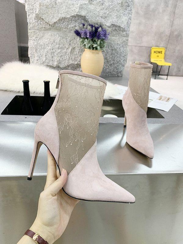 Neue High Heels Damen Spitzschuh Beleg auf Stilettos Partei-Hochzeit Pumpen Grund Schuhe frei Shiping wy20020401