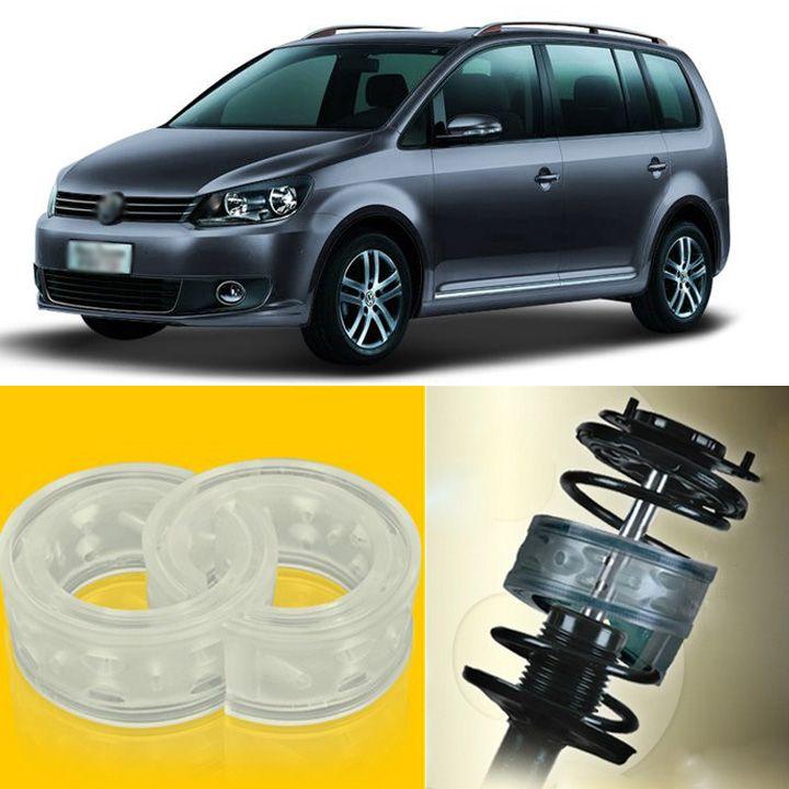 2pcs de energía de choque frontal / trasero con suspensión con respaldo tope de resorte, parachoques para Volkswagen Touran