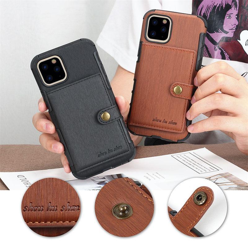 فاخر مصمم حقائب الهاتف لمدة 11 فون برو ماكس 6S A1003 7 8 زائد XS MAX XR بو الجلود مع فتحات بطاقة لسامسونج S8 9 ملاحظة 8 9 10