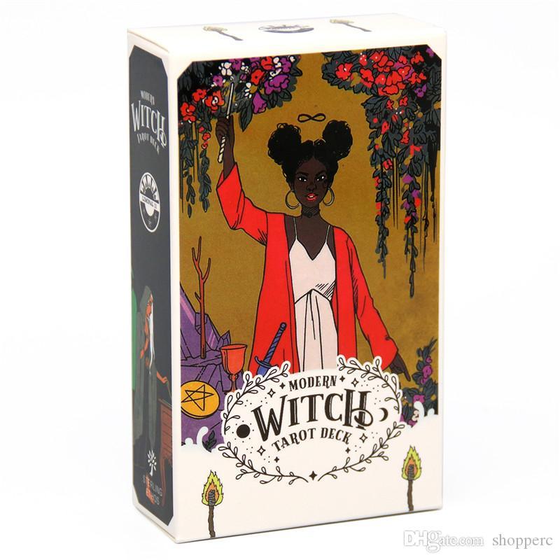 In magazzino tarocchi carte la moderna strega Tarocchi Deck carta 78 pz Full English con PFD guida famiglia Coperta Per Bambini Gioco di carte Set