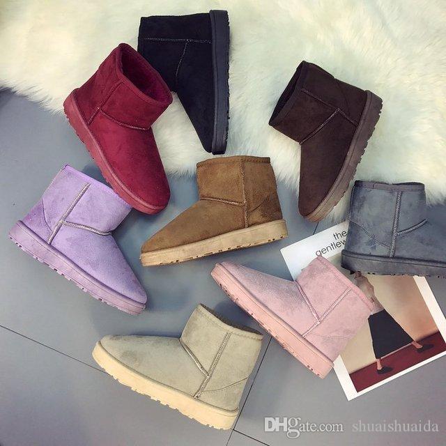 2018 осень зима новые женщины ботильоны вязание шерсть с плоским дном Мартин сапоги мода повседневная обувь хлопок-мягкие туфли добавление хлопка DDS24
