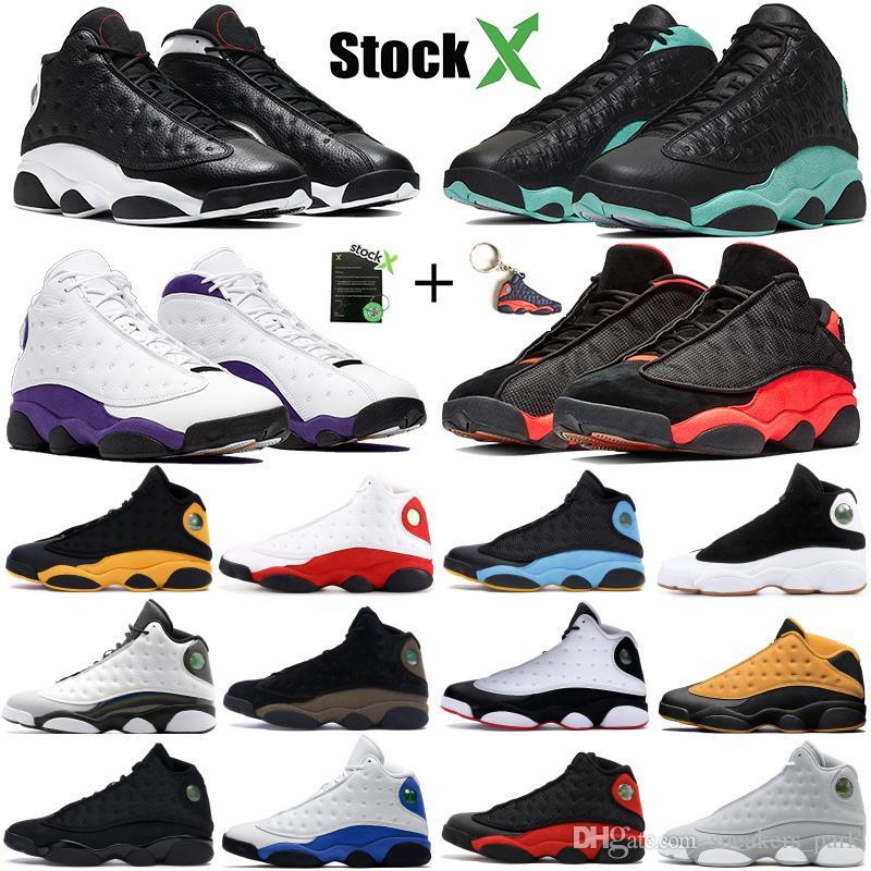 Top Nike Air Jordan Retro 13 13s Hombres Zapatillas de baloncesto Bred Flints Historia del vuelo XIII Zapatillas deportivas Diseñador Zapatillas de deporte Atletismo