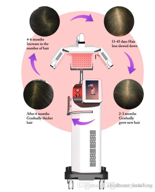 أحدث الشعر بالليزر آلة إعادة نمو مكافحة تساقط 660nm ليزر ديود معدات نمو الشعر للشعر شحنة إعادة نمو والضرائب المجانية