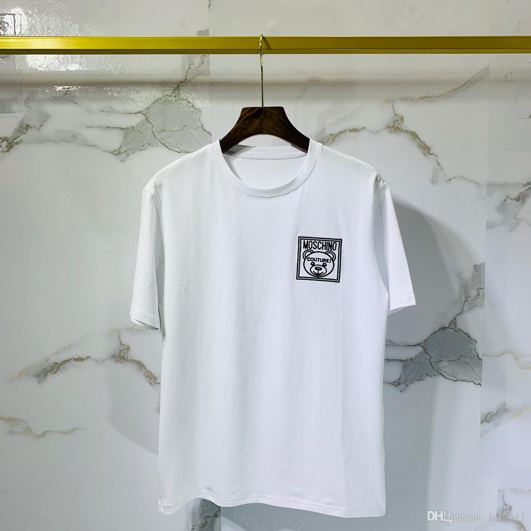 Yeni erkek kadın lar tshirt bayan t shirt erkek giyim Kısa kollu giysiler beyaz spor tee için üstleri tasarımcı t shirt geldi. Q33