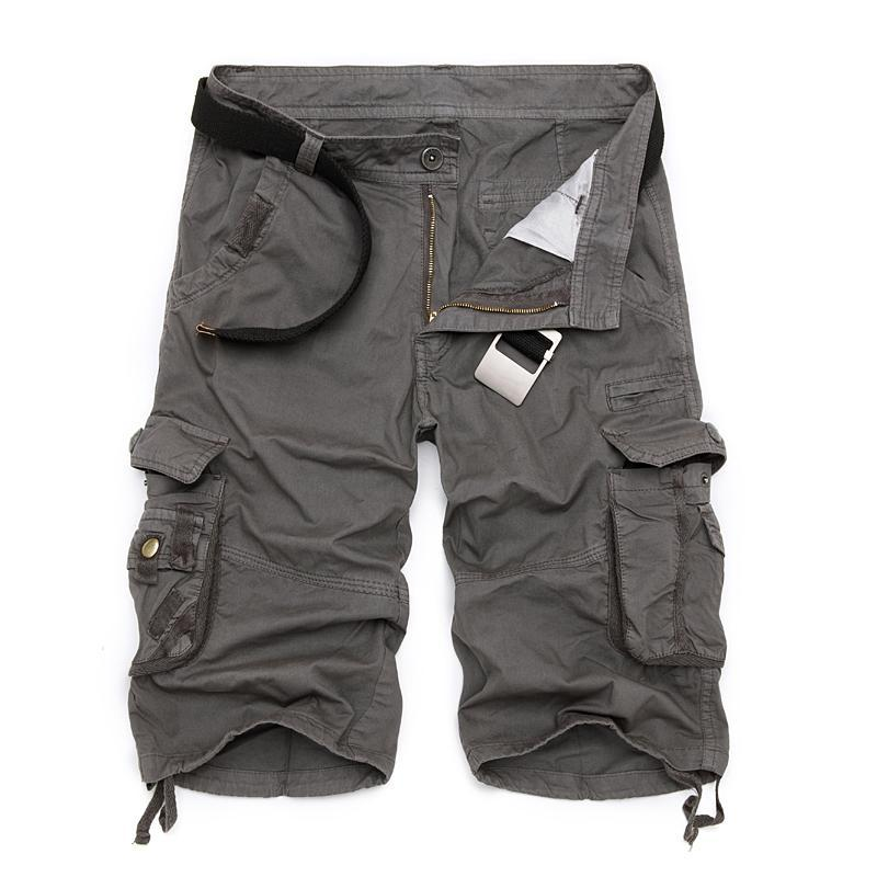 Erkek Askeri Kargo Şort yepyeni Ordu Kamuflaj Taktik Şort Erkekler Pamuk Gevşek Çalışma Casual Kısa Pantolon Artı Normal Boyut
